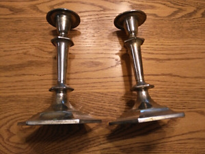 SILVER CANDLE HOLDERS!!