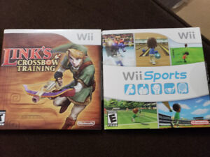 Wii fit plus and two games
