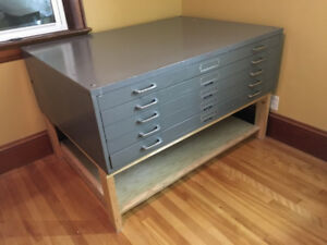 5-Drawer Flat File Cabinet