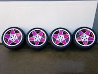 "19""x9.5"" 3SDM 0.05 Pink with a polished face Alloy Wheel for 5x112 Audi A4 Etc"