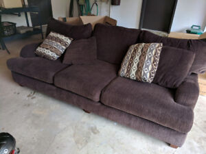 96inch couch chocolate brown fabric