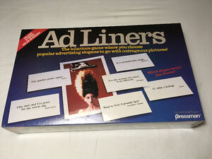 Ad Liners (1989) Vintage Board Game.
