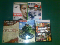 XBox 360, Wii & PC Games