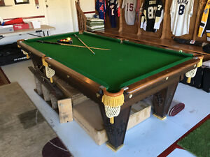 Antique Snooker Table 4.5 x 9'