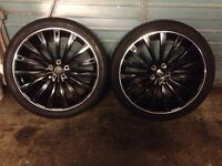 """Range Rover sport 22"""" alloys and tyres . 6-7mm tread . 285 35 22"""