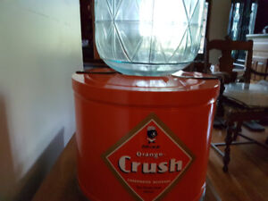 Vintage CRUSH cola/pop cooler/dispenser
