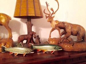 JE CHERCHE  canards en bois,  peintures,  sculpture animalière
