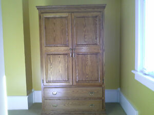 100% Solid Oak Armoire