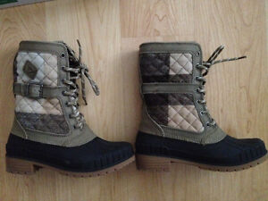 Women's Kamik Sienna Taupe Winter Boots - Size 7 - pre-owned
