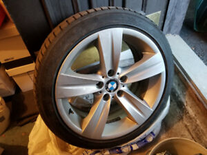 4 BMW 18'' mags with winter tires