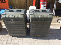 two large military flight cases