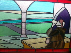 5 Artisan leaded stained glass panels circa 1950/60