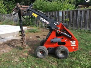 Thomas 25g mini skidsteer package with attachments