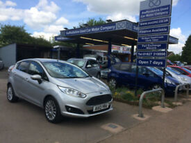 2013 13 Ford Fiesta 1.5TDCi (75ps) Titanium 5 Door in Silver 15,000 miles,