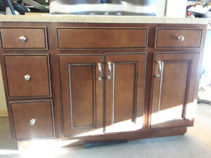 BRAND NEW KITCHEN CABINETS WITH QUARTZ TOP INCLUDING SINK