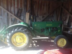 John Deere 40 with 2 furrow plow