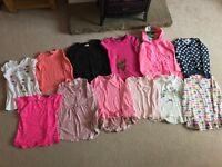 Girls 5-6 bundle tops & coat - mainly Next & M&S