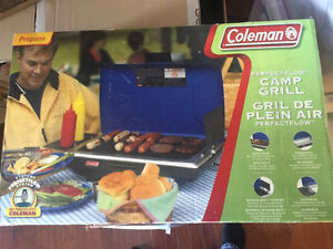 Coleman Camp Grill with wind block