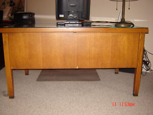 1950 oak Office Desk and Chair