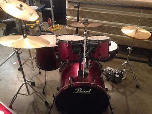 Pearl Forum Series Drumset (Wine Red) + Addons