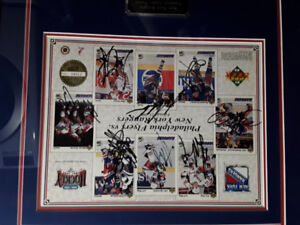 NYR autographs, messier, richter, leetch and more.
