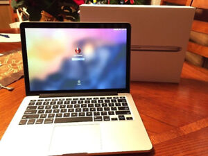 MacBook Pro Retina, 13 inch, 2.5 GHz Intel i5, 8GB RAM, 120 GB S