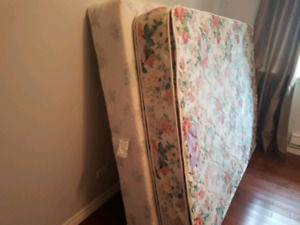 Queen mattress and boxspring.