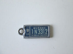 1968 La Belle Province Collectible Mini license plate from Quebe West Island Greater Montréal image 1