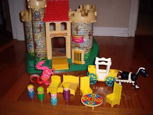 FISHER PRICE VINTAGE CASTLE TOY