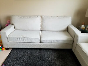 Two white couches