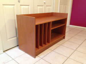 Teak Mid Century Record Player Stand