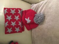 Next star hat gloves and scarf set