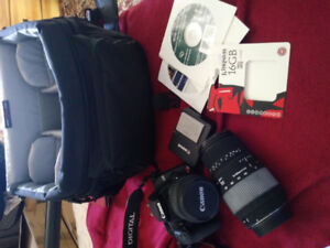 CANON EOS REBEL XS plus Macro Lens/Lowepro Camera bag/16 GB