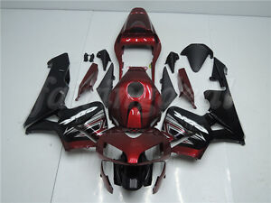 Injection Red Black Plastic Fairing Fit for Honda 2003-2004 CBR600RR F5 ABS e08