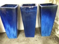 Ceramic Pots, Beautiful Blue Glazed