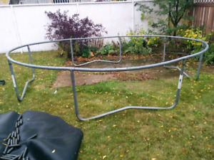 Trampoline frame and springs