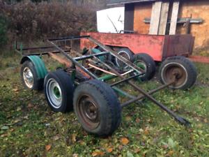 3 trailer axles.