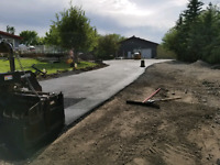 Acreage driveway paving and new constructions