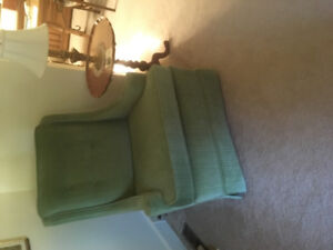 Super comfortable green chair