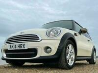 MINI Cooper 2.0 D 5dr Auto 2014 Panoramic Sunroof and Full Leather, White