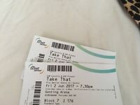 2x Take that tickets genting arena
