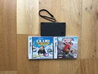 Black DSI With 2 Boxed Games
