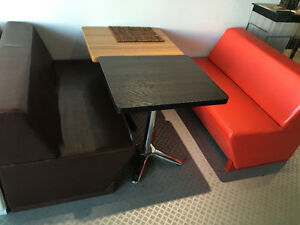RED AND BROWN BOOTH FOR SALE BRAND NEW AMAZING FOR RESTO CAFE