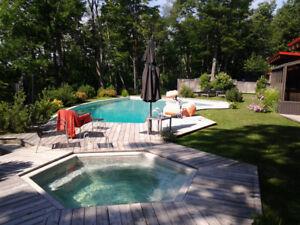 Restauration de piscine béton et fibre de verre