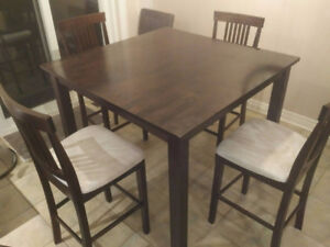 """41.5"""" x 41.5"""" square 4 person dining table"""