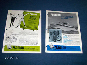 BOMAR CRYSTAL-2 VINTAGE CATALOGUE PAGES-C.B. RADIO-1970'S