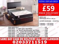 **Brand New King Size Divan Bed Available With Mattress** Springfield