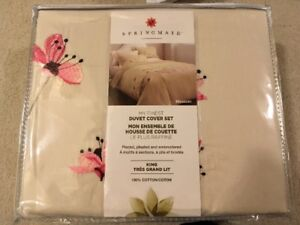 New King Duvet Cover and Pillow Shams