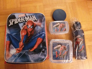 NEW: SPIDERMAN or STAR WARS LUNCH BAG + LUNCH BOX & WATER BOTTLE