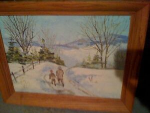 Oil painting by P. Barclay of Ennismore